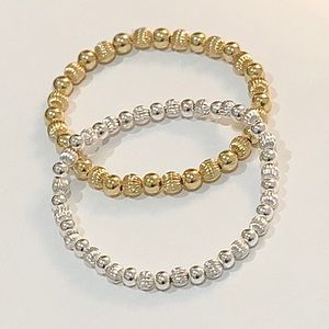 Silver and gold bracelets • set of 2 for $25